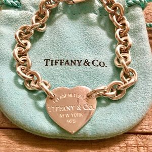 Tiffany and Co silver heart bracelet